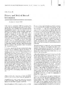 Privacy- and Medical Record Information - Europe PMC