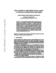 Privacy Assessment of Software Architectures ... - Semantic Scholar