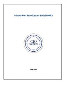 Privacy Best Practices for Social Media