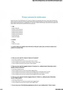 Privacy concerns for mobile users
