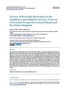 Privacy of Wearable Electronics in the Healthcare and Childcare Sectors