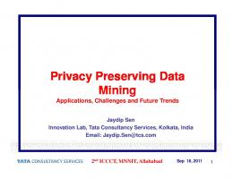 Privacy Preserving Data Mining Mining