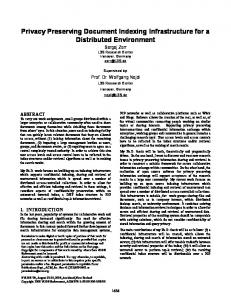 Privacy Preserving Document Indexing ... - VLDB Endowment