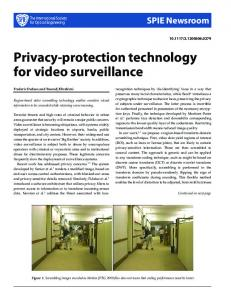 Privacy-protection technology for video surveillance - Semantic Scholar