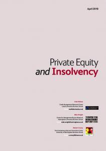 Private Equity and Insolvency