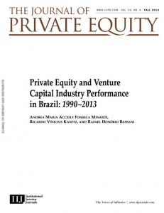 Private Equity and Venture Capital Industry ... - Institutional Investor