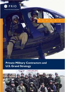 Private Military Contractors and US Grand Strategy - The Web site ...