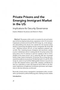 Private Prisons and the Emerging Immigrant Market in the US: