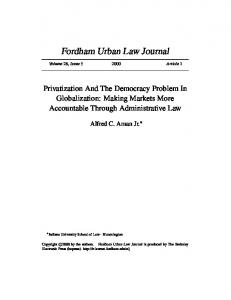 Privatization And The Democracy Problem In ... - Semantic Scholar