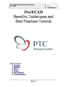 Pro/ECAD Benefits, Techniques & Best Practices - PTC.com