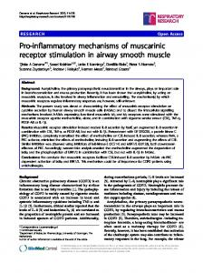 Pro-inflammatory mechanisms of muscarinic receptor ... - BioMedSearch