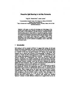 Proactive QoS Routing in Ad-Hoc Networks - Semantic Scholar