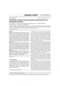 Probabilistic analysis of gene expression measurements from ...