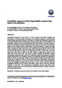 Probabilistic Approach of Rock Slope Stability