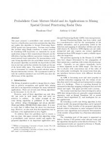 Probabilistic Conic Mixture Model and its Applications to Mining