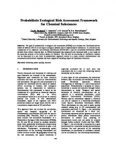 Probabilistic Ecological Risk Assessment Framework for ... - CiteSeerX