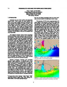 probabilistic guidance for hurricane storm surge - National Weather