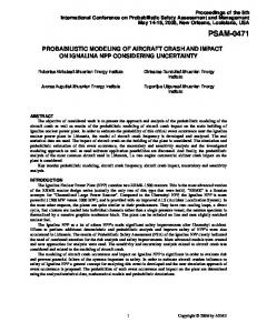Probabilistic Modeling of Aircraft Crash and Impact on ...