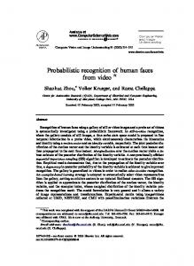 Probabilistic recognition of human faces from video