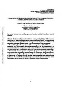 Probabilistic Reduced-Order Modeling for Stochastic Partial ...
