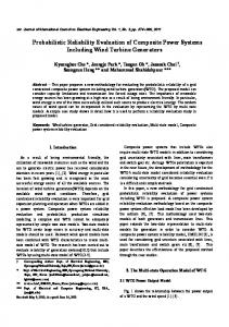 Probabilistic Reliability Evaluation of Composite Power Systems ...