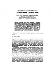 Probabilistic Rewrite Theories: Unifying Models ... - Semantic Scholar