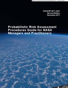 Probabilistic Risk Assessment Procedures Guide for