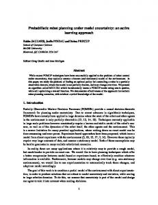 Probabilistic robot planning under model uncertainty: an ... - McGill CS