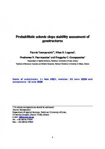 Probabilistic seismic slope stability assessment of ...