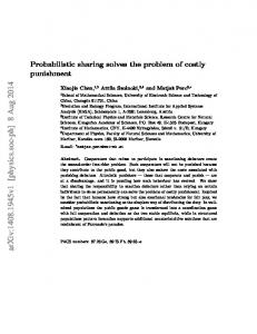 Probabilistic sharing solves the problem of costly punishment