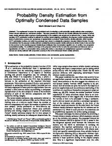 Probability density estimation from optimally ... - Semantic Scholar