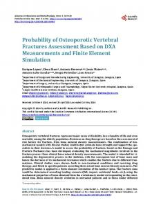 Probability of Osteoporotic Vertebral Fractures Assessment Based on ...
