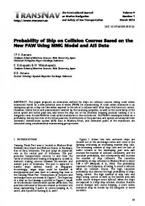 Probability of Ship on Collision Courses Based on ... - TransNav Journal