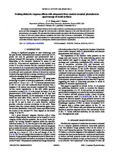 Probing dielectric-response effects with attosecond time ... - KSU Physics