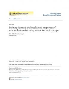 Probing electrical and mechanical properties of nanoscale materials ...
