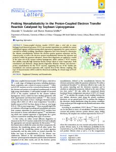 Probing Nonadiabaticity in the Proton-Coupled Electron Transfer ...