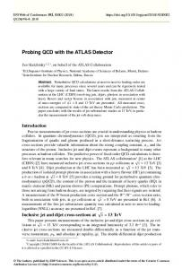Probing QCD with the ATLAS Detector - EPJ Web of Conferences