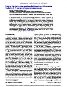 Probing the electronic properties of dichromium oxide clusters Cr2O ...