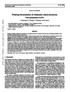 Probing the evolution of molecular cloud structure: From quiescence to ...
