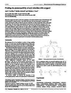 Probing the photoreactivity of aryl chlorides with