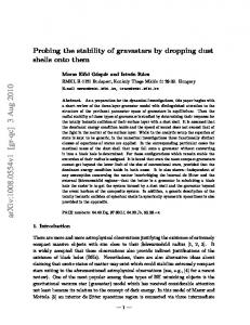 Probing the stability of gravastars by dropping dust shells onto them
