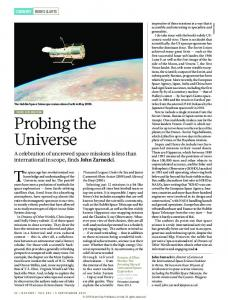 Probing the Universe - Nature