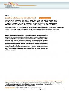 Probing water micro-solvation in proteins by water catalysed ... - Nature