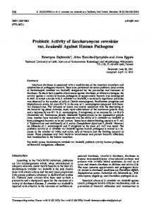 Probiotic Activity of Saccharomyces cerevisiae var. boulardii Against ...