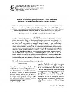 Probiotic level effects on growth performance, carcass traits ... - Scielo.br