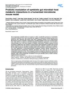 Probiotic modulation of symbiotic gut ... - Wiley Online Library
