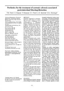 Probiotics for the treatment of systemic sclerosis-associated