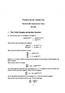 Problem Set #1 Answer Key