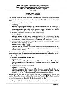 Problem set 3 Solutions (PDF) - MIT OpenCourseWare