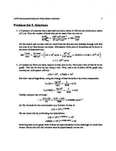 Problem Set 5, Solutions - Department of Earth Sciences